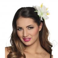 Havajská květina do vlasů Ibišek bílý