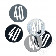 Dekorační konfety na stůl číslo 40 černé