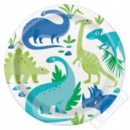 Papírové party talíře Dinosauři