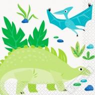Papírové party ubrousky Dinosauři