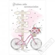Svatební blahopřání novomanželům Bicykl