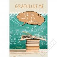 Blahopřání k ukončení studia Maturant