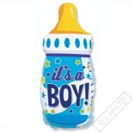 Nafukovací balón Láhev Baby modrá 80cm