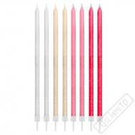 Dortové svíčky dlouhé Glitter Candy