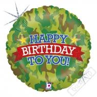 Nafukovací narozeninový balónek Army 45cm