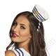 Námořnická mini čepička na čelence