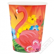 Papírové party kelímky Flamingo