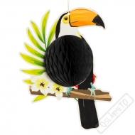 Závěsná papírová dekorace Tukan