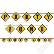 Narozeninový písmenkový banner Party Zone