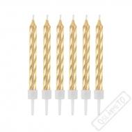 Svíčky na dort metalické zlaté
