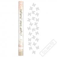 Vystřelovací konfety Motýli bílí 60cm