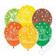 Latexové balónky s potiskem Safari zvířátka