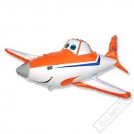 Nafukovací balón fóliový Letadlo oranžové
