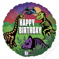 Nafukovací narozeninový balónek Dino Jurassic 45cm