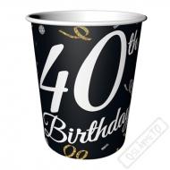 Papírové party kelímky k 40. narozeninám