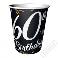 Papírové party kelímky k 60. narozeninám
