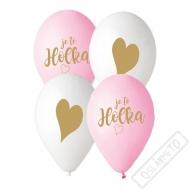 Latexové balónky s českým potiskem Je to holka