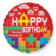 Nafukovací narozeninový balónek Tetris 45cm
