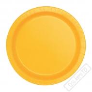 Papírové barevné talířky Slunečnicově žluté