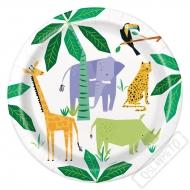 Papírové party talíře Safari
