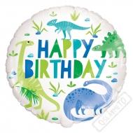 Nafukovací narozeninový balónek Dino 45cm