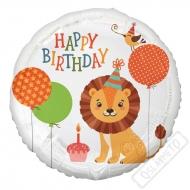 Nafukovací narozeninový balónek Lev 45cm