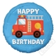 Nafukovací narozeninový balónek Hasičský vůz 45cm