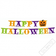 Papírový nápis Happy Halloween Pumpkin