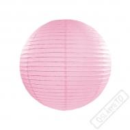 Papírový lampion kulatý růžový 25cm