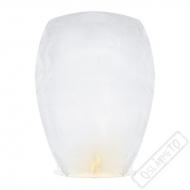 Létající lampion štěstí bílý Jumbo