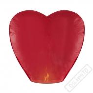 Létající lampion štěstí srdce červené Jumbo